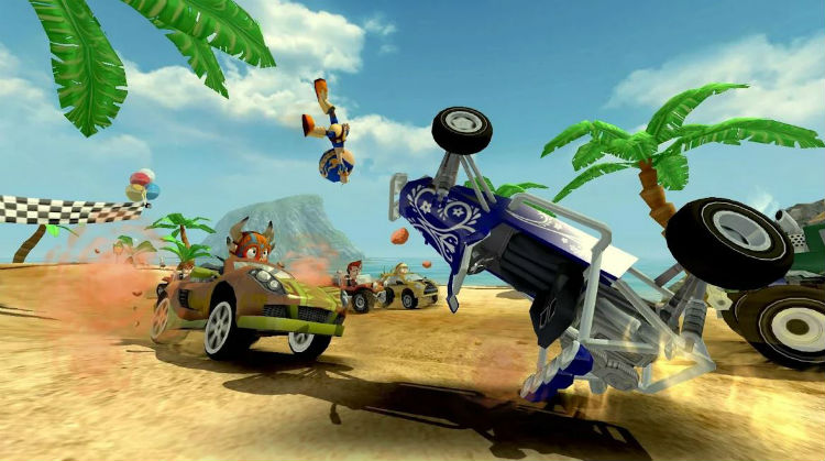beach buggy racing mod apk unlimited money and gems