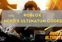 Roblox Hero's Ultimatum Codes